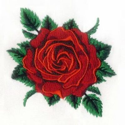 Rose Embroidery in New York, NY Art