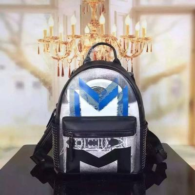 MCM Small Moonwalker Backpack In Blue in New York, NY 10451 Export Bags