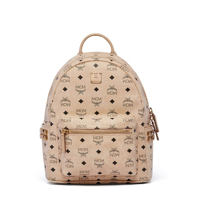 MCM Small Stark Side Odeon Studs Backpack In Beige in New York, NY 10451 Export Bags