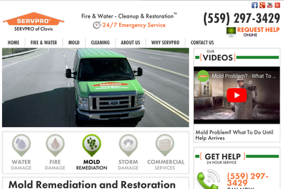 Servpro of clovis in Clovis, CA 93612 Fire & Water Damage Restoration