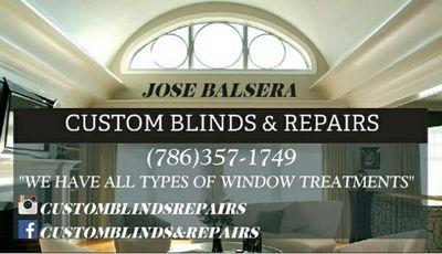 Custom Blinds & Repairs in Miami, FL 33126 Window Treatment Installation Contractors