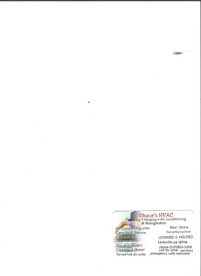 okanes hvac in Larksville, PA Air Conditioning & Heating Repair