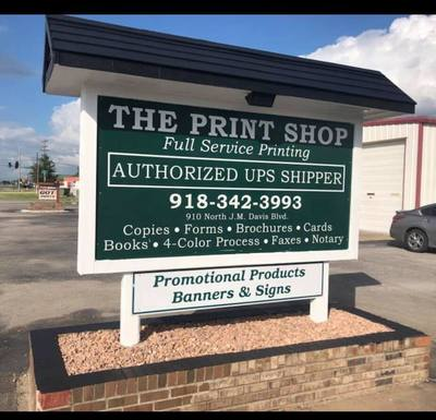 The Print Shop in Claremore, OK 74017 Printing Services