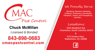 CMAC Pest Control in Charleston, SC 29412 Exterminating and Pest Control Services