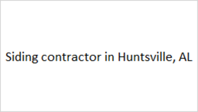 Huntsville Siding Contractors in Huntsville, AL 35810 Generator Installation Contractors