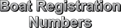 Boat Registration Numbers in Pompano Beach, FL 33069 Signs