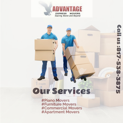 Sofa Movers Arlington TX-Advantage Express Movers in Southwest - Arlington, TX Furniture & Household Goods Movers