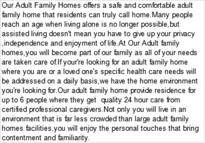 Cherished Acres Assisted Living Provider in Auburn, WA 98092 Homes Senior Living