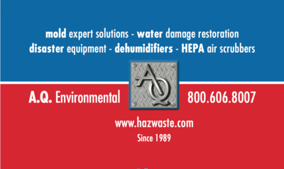 A Q ENVIRONMENTAL in Encino, CA Mold & Mildew Removal Equipment & Supplies