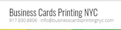 Business Card Printing NYC in New York, NY 10036