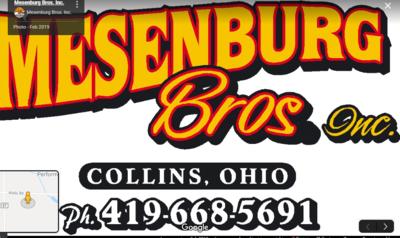 Mesenburg Bros Inc in Collins, OH Sand Gravel & Aggregate